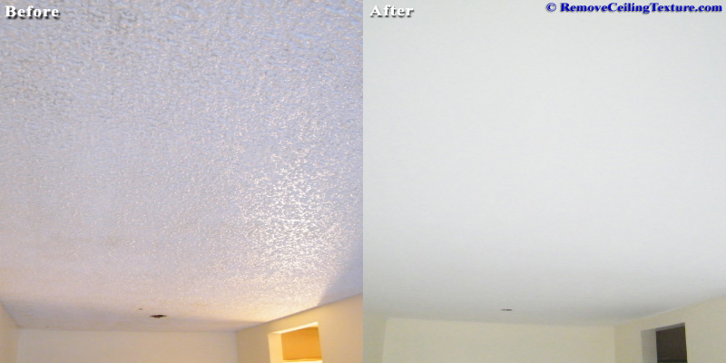 Popcorn Texture Ceiling Living Room