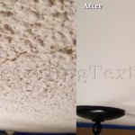 Coarse and cracked ceiling texture preventing home seller from getting maximum value