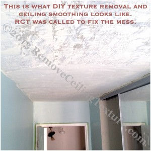 Scraping texture from ceilings for Asbestos in drywall canada