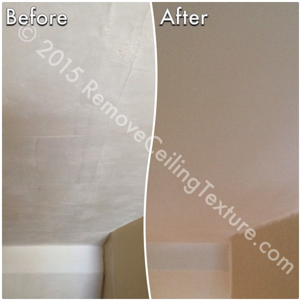 This scraped concrete ceiling was quite rough before RCT resurfaced it